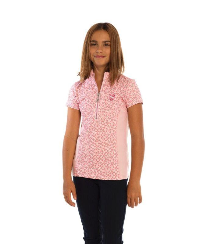Goode Rider Girls Ideal Show Shirt - Short Sleeve - Pink Swirl