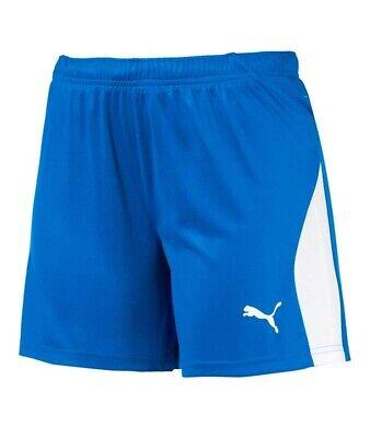 Puma Womens Ladies LIGA Sports Shorts Blue White. Size UK 12 . 703432 02