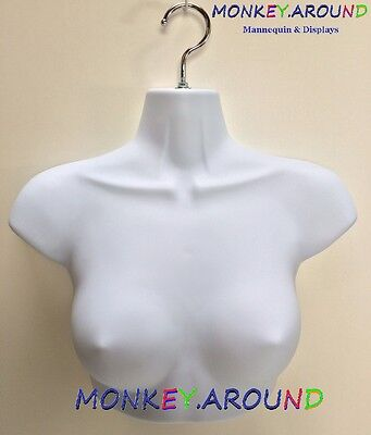 1 Female Mannequinsm Upper Torso Body Hanger Form - Display Dress Shirt - White