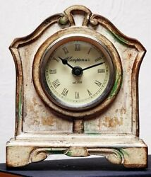 Vintage Style Clock Antique Antique Wood Table Clock Battery FREE SHIPPING