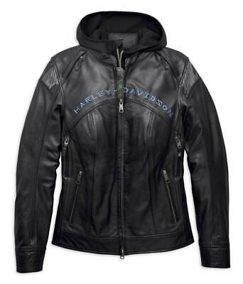 Harley-Davidson® Women's Kenova 3-IN-1 Leather Jacket, 97034-19VW
