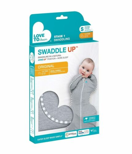 Love To Dream Swaddle UP, Gray, Small, 7-13 lbs, Better Sleep Fast Shipping