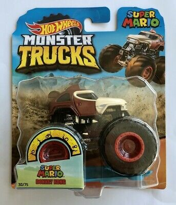 Hot Wheels Monster Trucks DONKEY KONG SUPER MARIO With Crushable Car Rare...