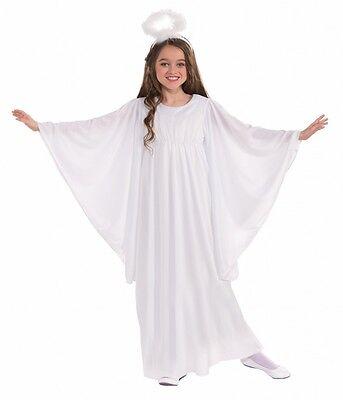 Christmas Angel Costumes (Girls Angel Costume White Dress Christmas Biblical Child Size Medium)