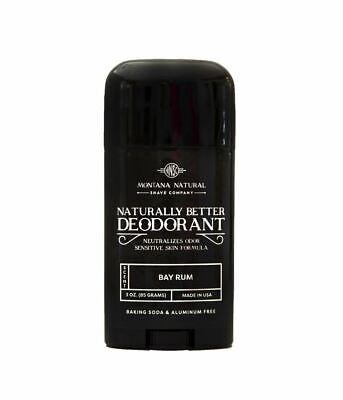 Bay Rum Deodorant Naturally Better, Aluminum & Baking Soda Free