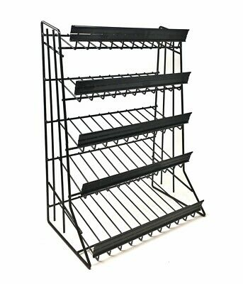 5 Tier Shelf Counter Top Candy Display Rack - Black Free Shipping