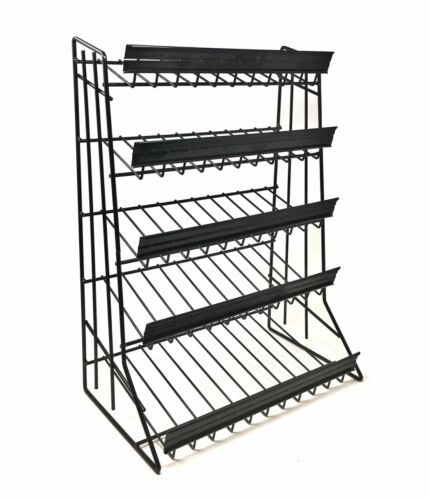 """5 Tier Shelf Counter Top Candy Display Rack - Black """" FREE SHIPPING """""""