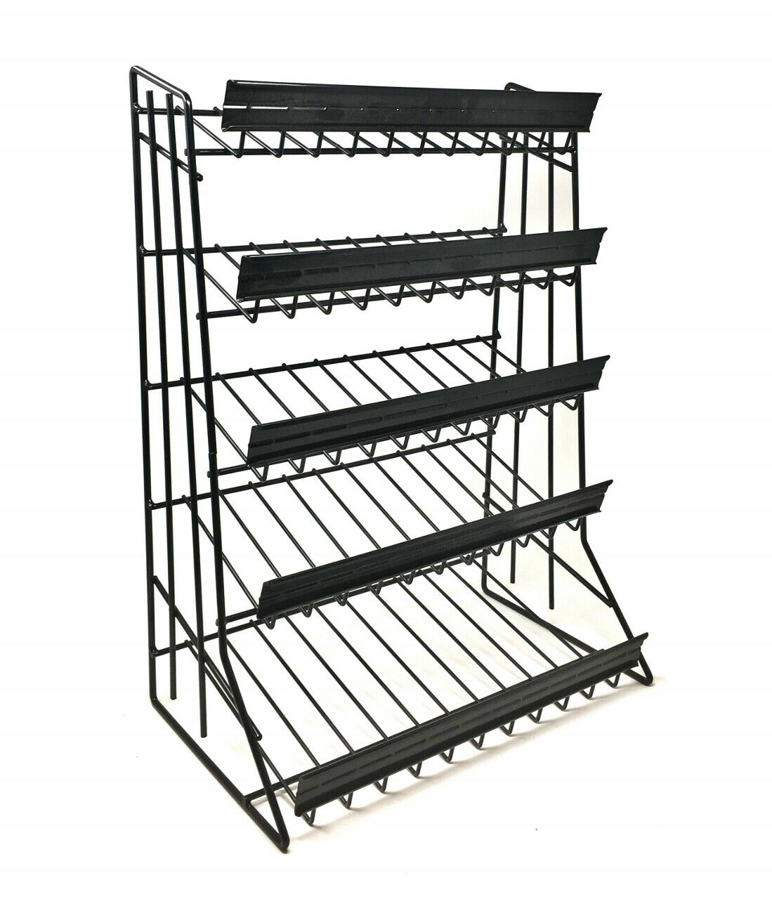 "5 Tier Shelf Counter Top Candy Display Rack - Black "" FREE S"