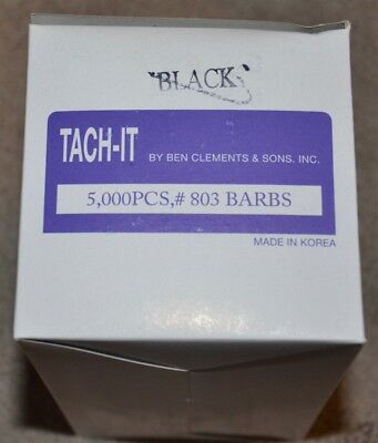 Tach-it Tach It 803 Barbs 5000 Pieces Standard Tagging Fastener Black