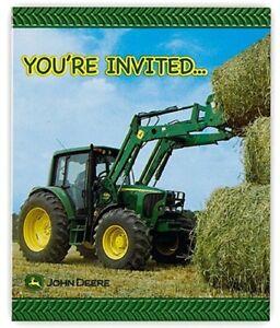 John Deere Birthday Party Invitations 8pk For Sale Online