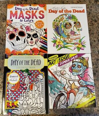 Colors Of Day Of The Dead (Day of the Dead Masks Sugar Skulls & Zombies Coloring Books (lot of)