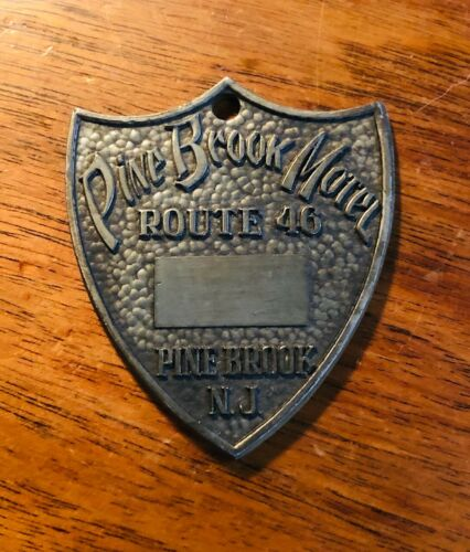 Vintage Pine Brook Motel Casino New Jersey Key FOB - No Engraved Room Number