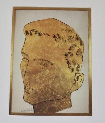 Andy Warhol Robert Miller Gallery 1988 exhibit tri-fold promo