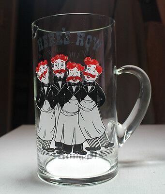 Vtg Alt Verbindung Glas Cocktail Krug Friseur Quartet Here's How West Virginia Cocktail-krug