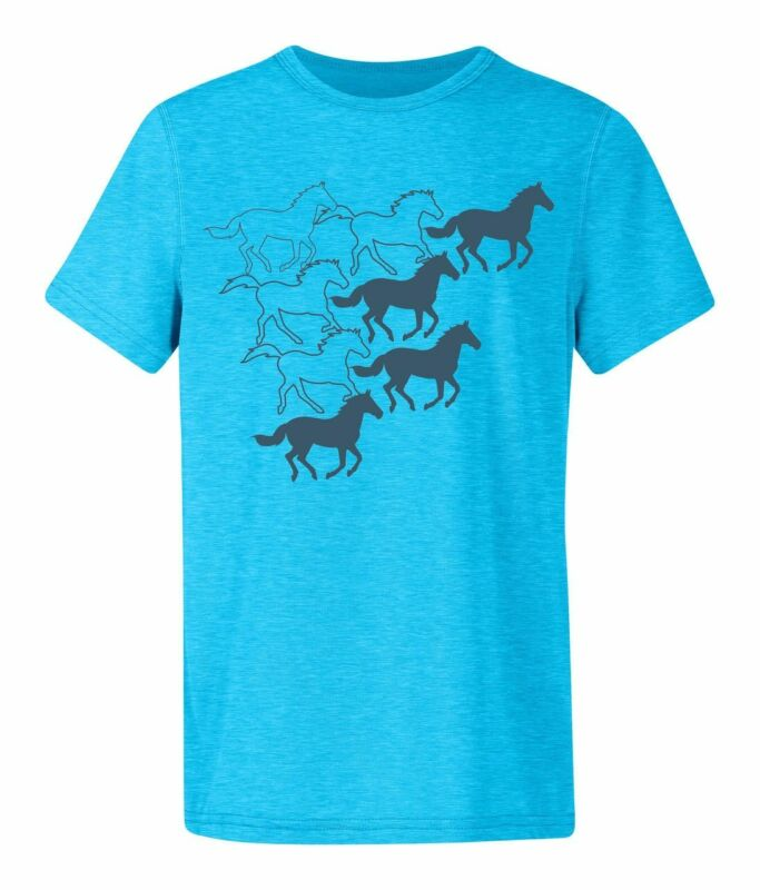 Kerrits Kids Summer Collection Sketch S/S Tee - Aquatic Blue