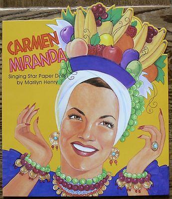 Carmen Miranda Paper Doll Book B Shackman