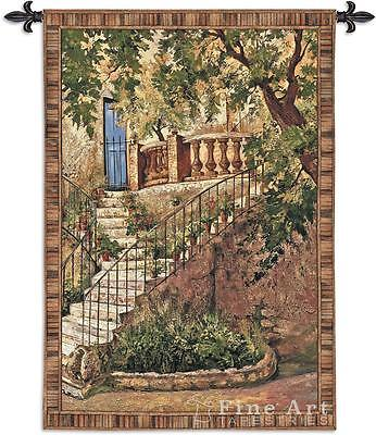 Italian Villa Tapestry - Tuscan Villa Wall Tapestry Italian Countryside Picture 53