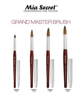 Mia Secret Kolinsky Nail Brush Grand Master - /12 /14 /16 Pick Yours -
