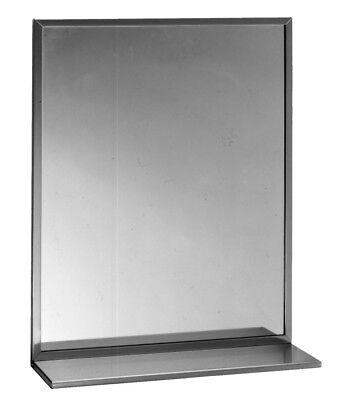 Bobrick B 292 2436 Mirror Stainless Steel Angle Frame Shelf. 24x36 New