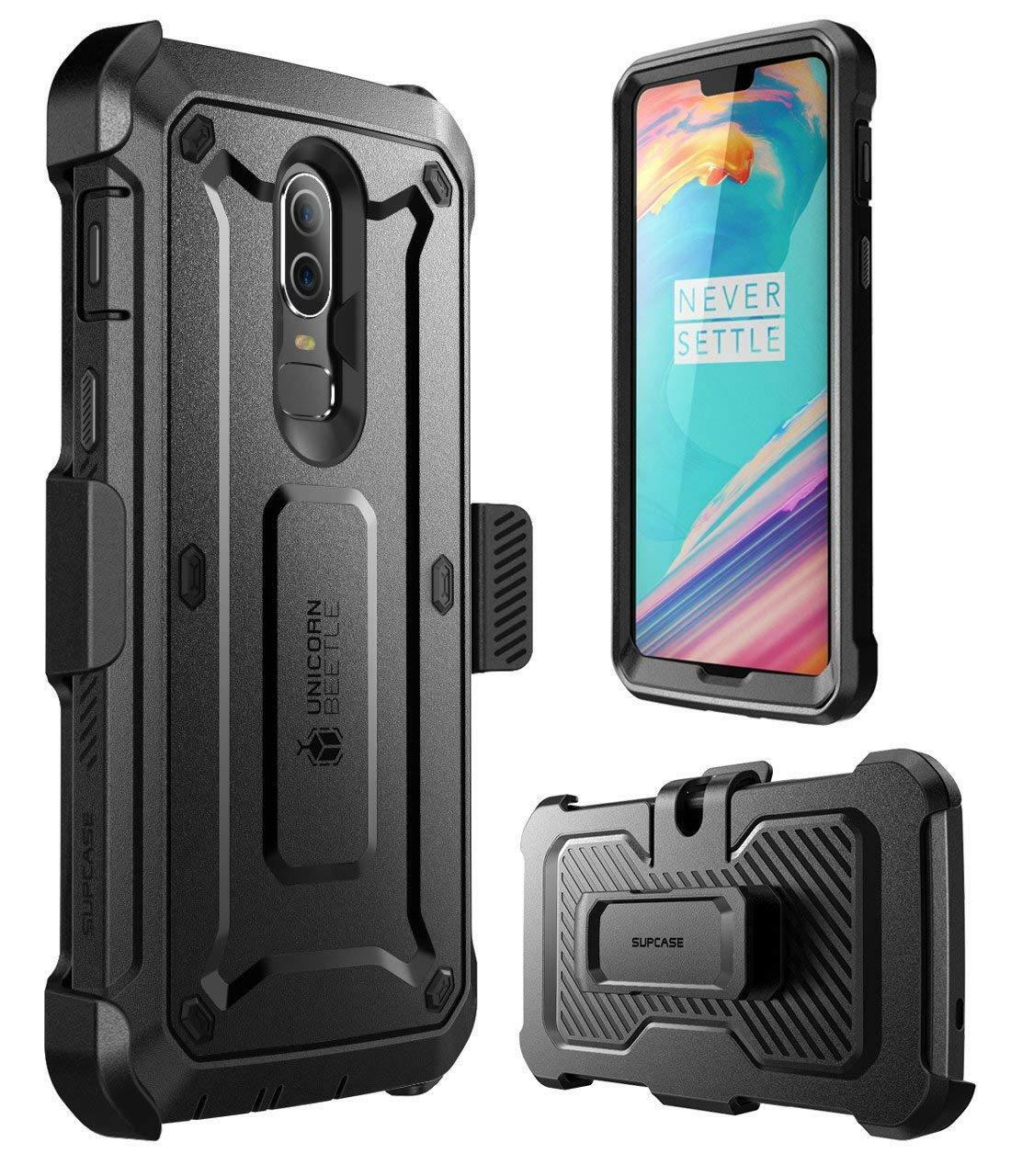 reputable site 54a79 cba60 Details about OnePlus 6 Case,SUPCASE Rugged Shockproof Case Cover w/Screen  Protector Belt Clip