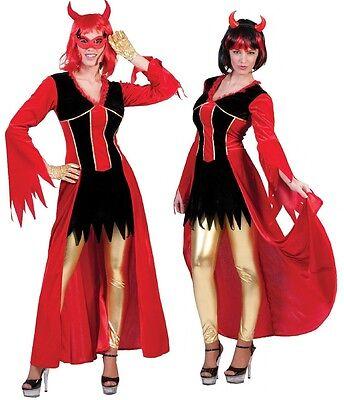 Teufel Kostüm Ava rot Polyester Kostüm Teufelin Halloween Kostüm Fasching