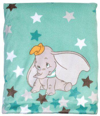Disney Dumbo Velboa Plush Blanket w/Coral Fleece back
