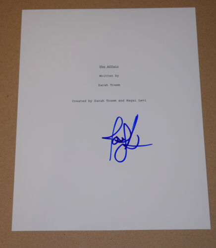 Joshua Jackson Signed Autographed The Affair Full Pilot Episode Script COA