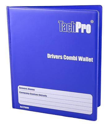 Tachpro Tachograph 28 Day Hardback Driver Combi Wallet For Analogue & Digital