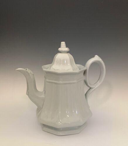 """Antique T. Abbott White Ironstone Teapot 9"""""""