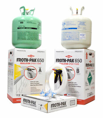 Spray Foam Insulation Kit Dow Froth-pak 650 Class A Fire Rated 30 Ft Hose