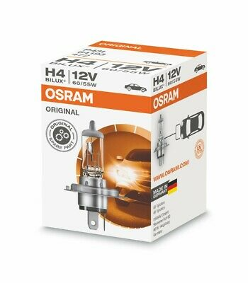 2 x Osram Original H4 P43t 12V 55-60W Bulbs Lamps Low Beam Light Car