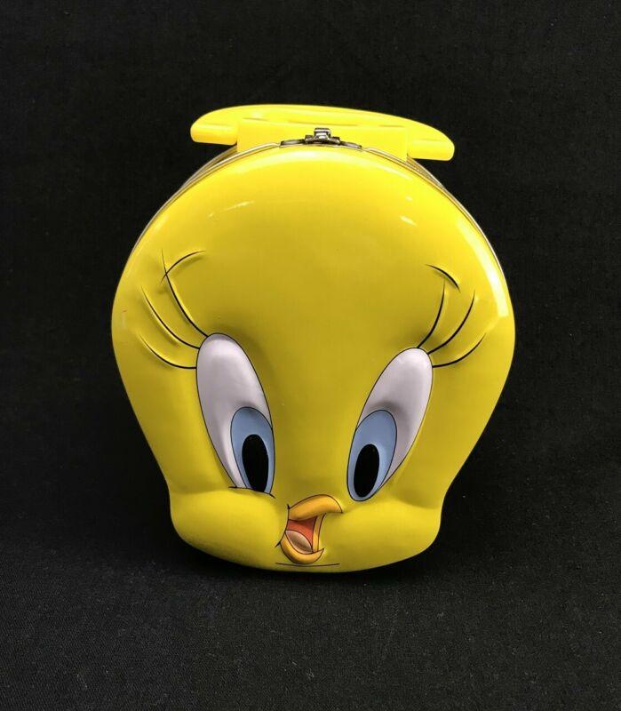 Brand New Tweety Bird Tin Tote Yellow Lunch Box Looney Tunes Warner Bros 1998