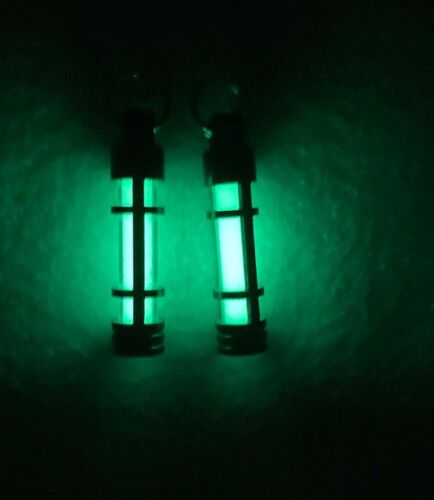 Precision Glow in The Dark Keychain - Anodized Aluminum 2 pc ZIPPER PULL