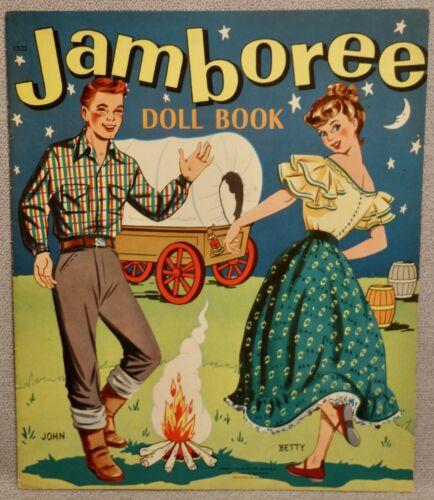 1950s JAMBOREE Paper Doll Book - ABBOTT (LOWE) - RARE UNCUT ORIGINAL