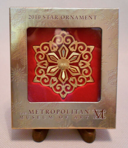 METROPOLITAN MUSEUM OF ART MMA 2010 STERLING SILVER VERMEIL STAR ORNAMENT NEW