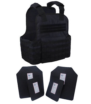 Tactical Scorpion Gear Level III AR500 Body Armor Muircat MOLLE Vest + Armor