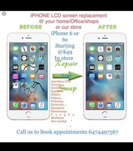 IPhone screen fix @ your home or our store ur time also Iptv box
