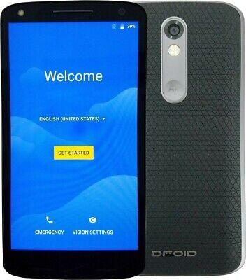 Motorola Droid Turbo 2 XT1585 32GB Black Verizon (GSM Unlocked) Burn 8/10 #11438