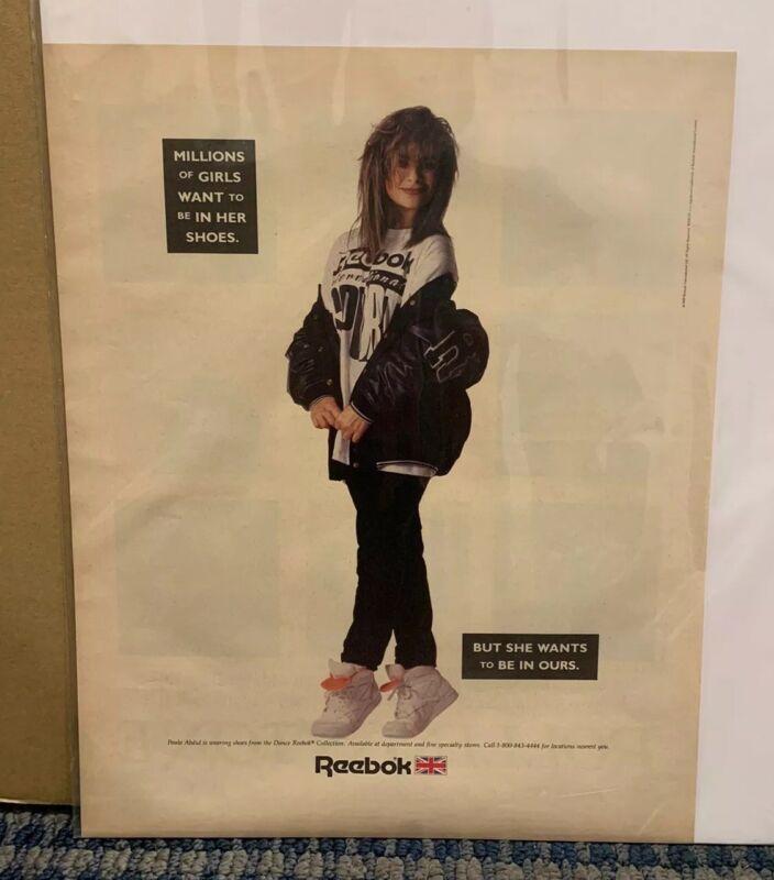 1989 PAULA ABDUL REEBOK Print Ad Excellent Color (J46)