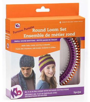 KB Knitting Board 'Premium' Round Loom Set KB8100