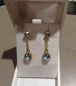 Elegant 9ct gold Topaz Stud Earrings. Brand New. Eaton Dardanup Area Preview