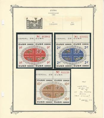 Caribbean Island Christmas Plate Blocks 1960, #648-662 Mint NH VF