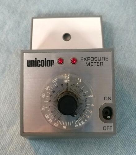 Vintage Unicolor Darkroom Exposure Meter w/Orig Box