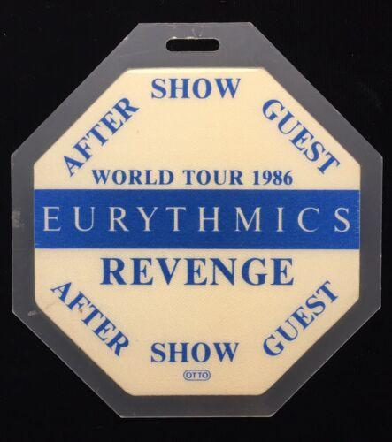 EURYTHMICS REVENGE TOUR AFTERSHOW GUEST OCTAGON SHAPED LAMINATED CONCERT PASS