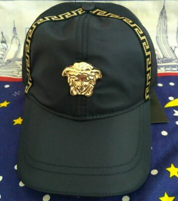 VERSACE Outdoor Golf Hat Adjustable Strap Adult Size Blue New