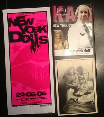 2006 New York Dolls  Paris Silkscreen mini Concert Poster post cards J. Thunders