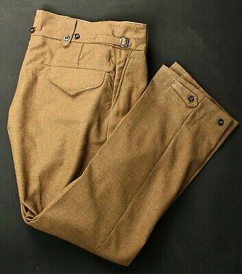 Men's NOS 1952 Korean War Australian Army Pants Sz 15 37-38x33 50s Wool Trousers