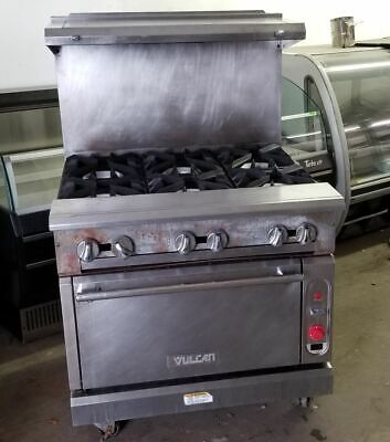 Vulcan 6 Burner Gas Range With 1 Convection Oven