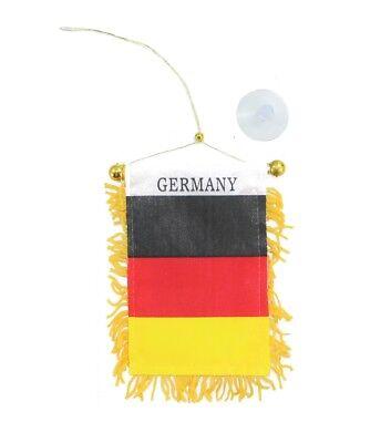 Wimpel Banner kleine Fahne Flagge Deutschland Germany für Auto mit Saugnapf Kleine Fahnen