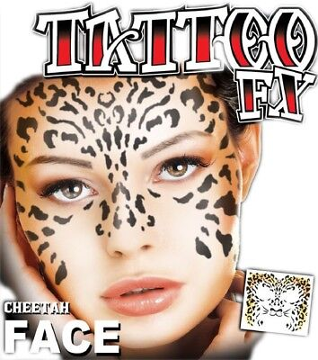 Adults Cheetah Animal Special Effects Make Up Transfer - Special Effects Make Up Kit